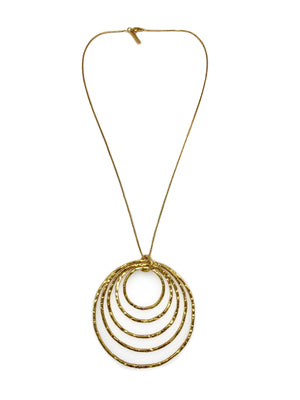 Ripple Textured Gold Pendant Necklace-Necklaces-Jared Jamin Online-JARED JAMIN