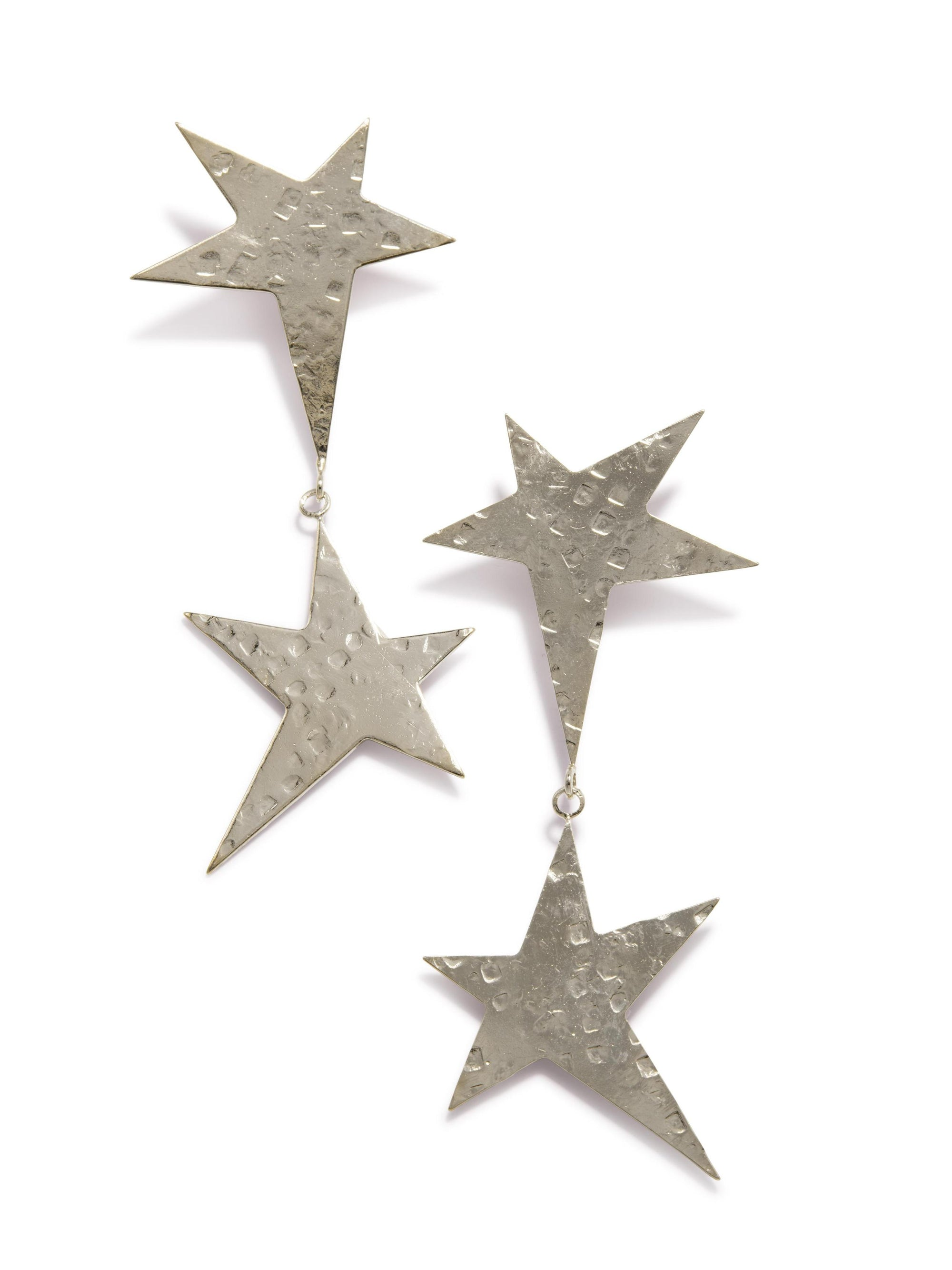 Silver Shooting Star Dangle Post Earrings-Earrings-JAREDJAMIN Jewelry Online-JAREDJAMIN - Fashion Jewelry & Accessories