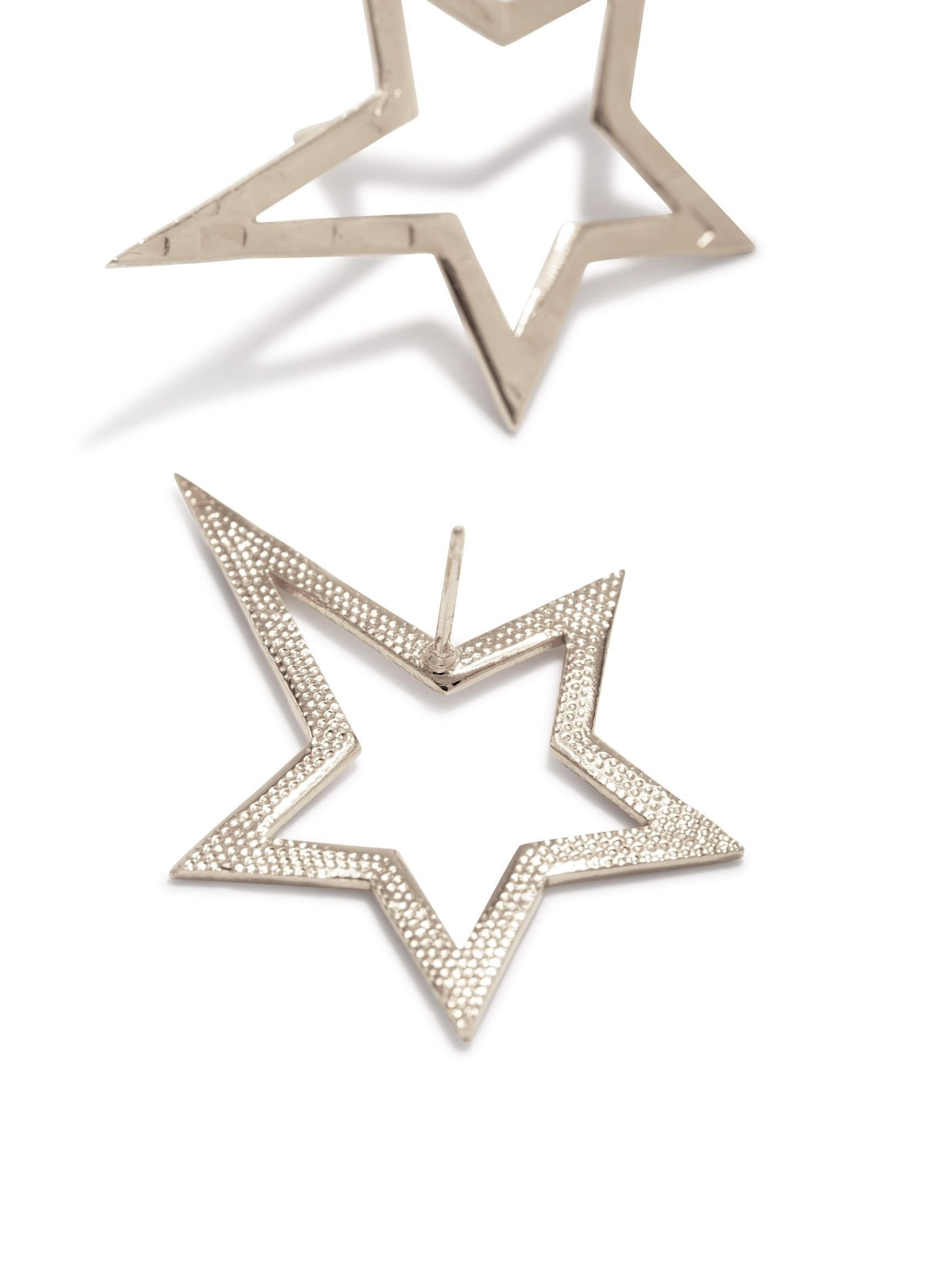 Silver Shooting Star Dust Earrings (Sm)