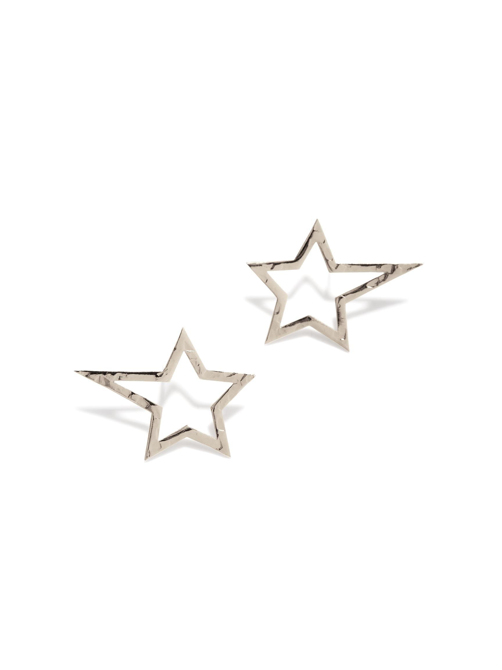 Silver Shooting Star Dust Earrings (Sm)-Earrings-JAREDJAMIN Jewelry Online-JAREDJAMIN - Fashion Jewelry & Accessories