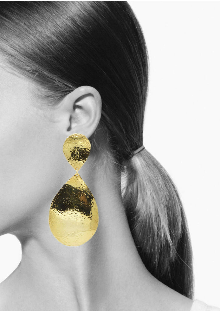 Sally Textured Clip Earrings