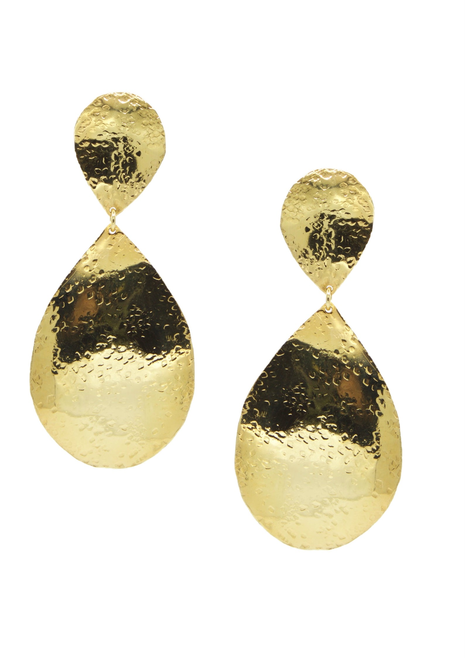 Sally Textured Clipon Earrings-Earrings-JAREDJAMIN Jewelry Online-JARED JAMIN