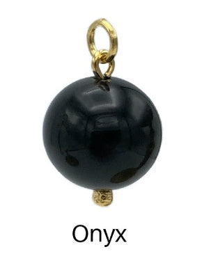 16MM Smooth Ball Pendant Charms-Pendant Charms-Jared Jamin Online-Onyx Ball Charm-JARED JAMIN