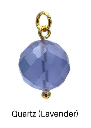 16MM Faceted Ball Earring Pendant Charms-Pendant Charms-Jared Jamin Online-Quartz (Lavender) Ball Charm-JARED JAMIN