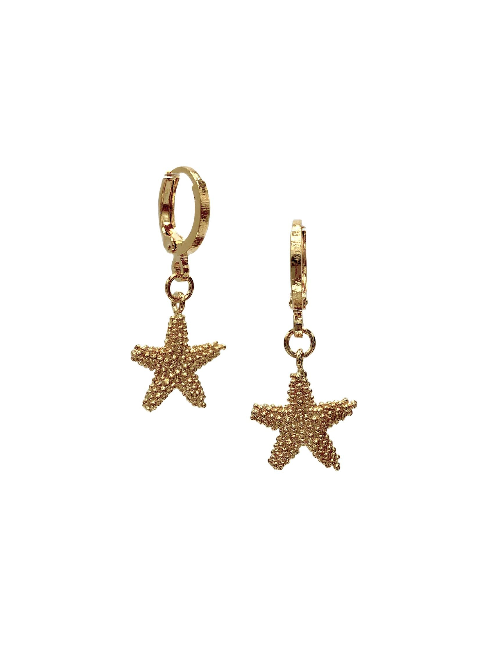 Sea Star Lever Back Earrings-Earrings-JAREDJAMIN Jewelry Online-JARED JAMIN