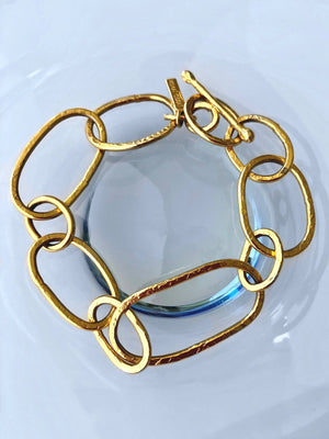 Shackle Gold Link Bracelet-Bracelets-Jared Jamin Online-JARED JAMIN