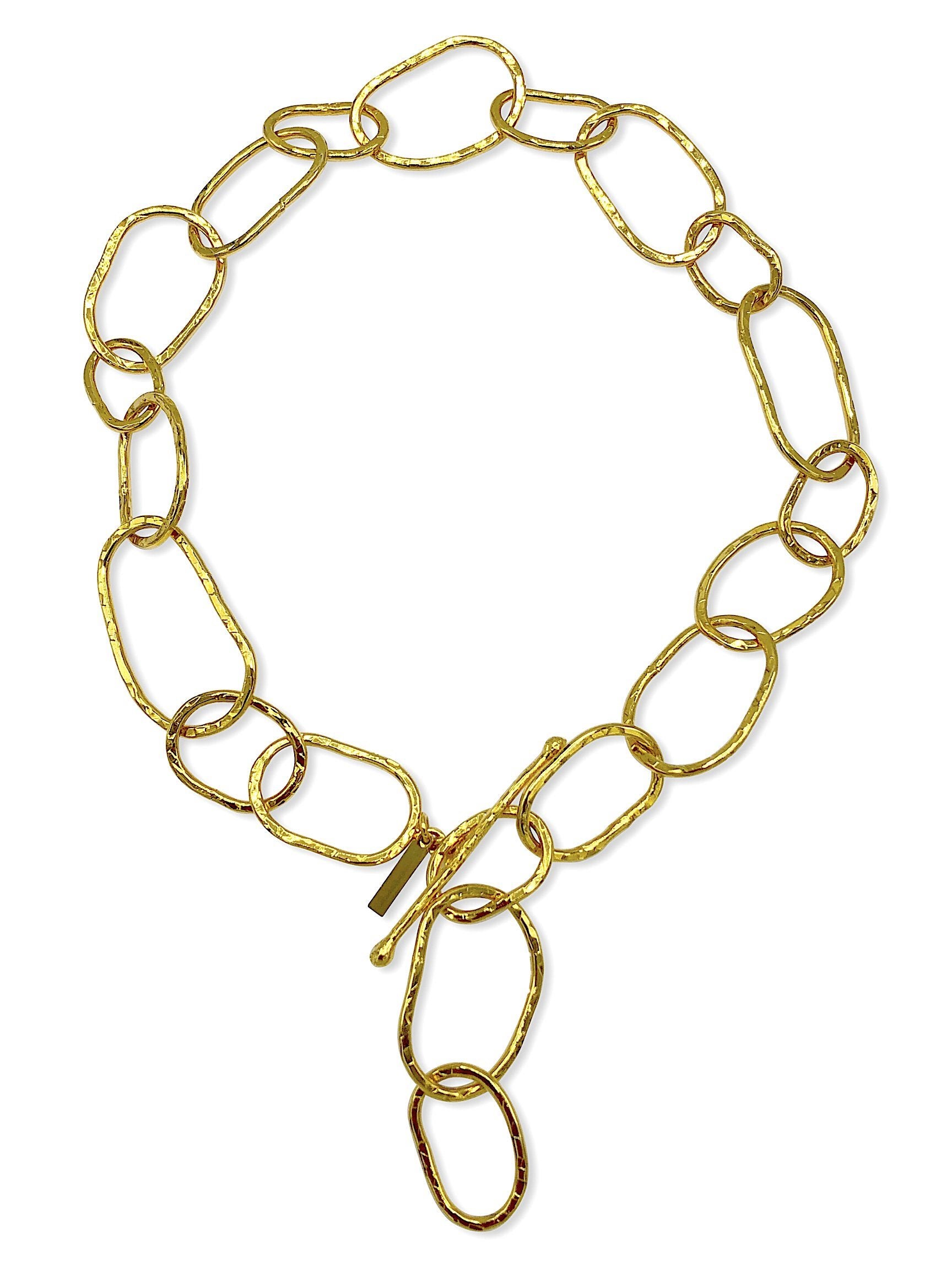 Shackle Gold Link Necklace-Necklaces-JAREDJAMIN Jewelry Online-JARED JAMIN