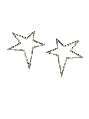Shooting Star Silver Dust Earrings-Earrings-JAREDJAMIN Jewelry Online-JAREDJAMIN - Fashion Jewelry & Accessories