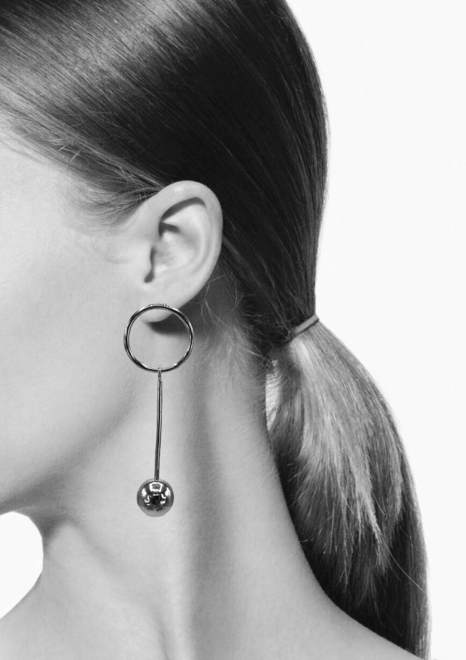 Orbita Pendulum Silver Earrings-Earrings-JAREDJAMIN Jewelry Online-JARED JAMIN