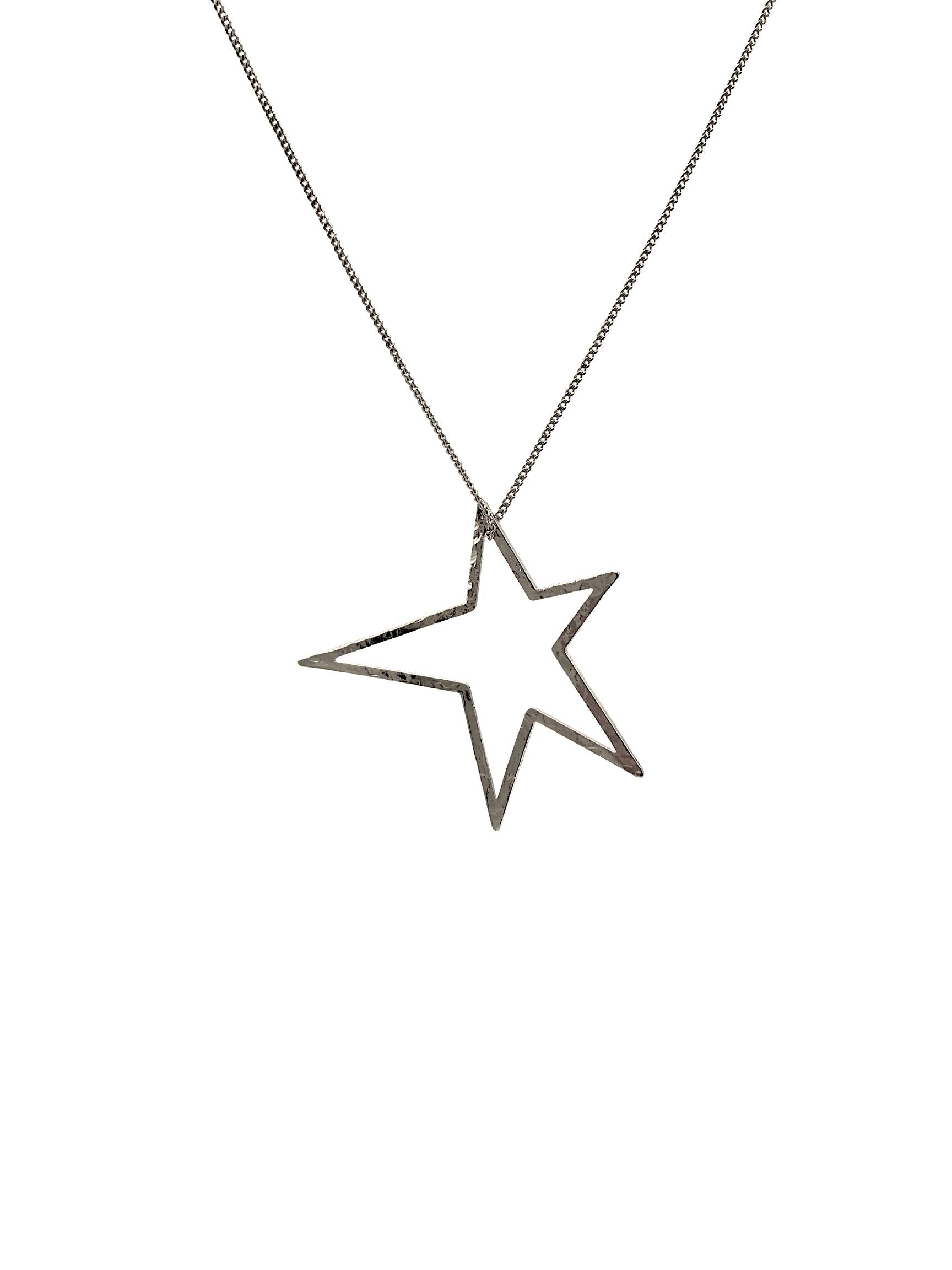 "Silver Shooting Star Dust Charm & Chain Necklace-Necklaces-JAREDJAMIN Jewelry Online-18""-20""-22""-JAREDJAMIN - Fashion Jewelry & Accessories"
