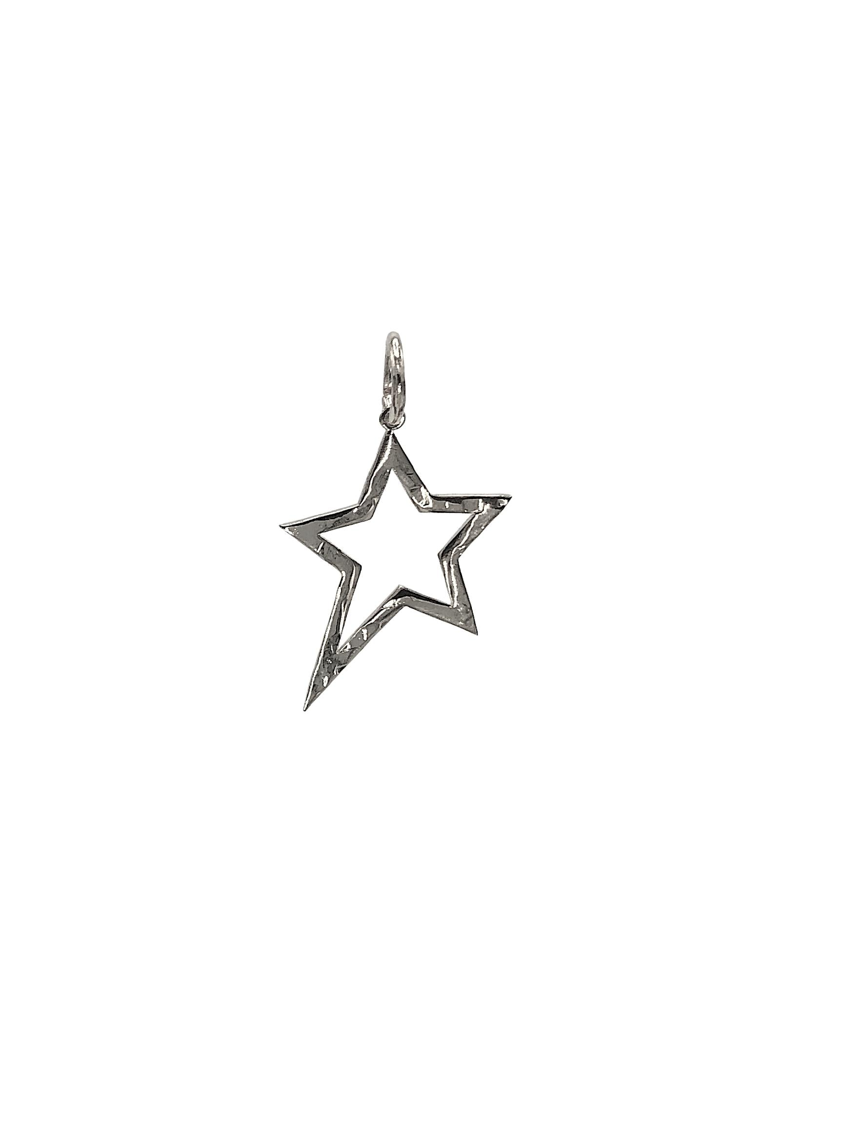 Silver Shooting Star Pendant Charm (sm)-Pendant Charms-JAREDJAMIN Jewelry Online-JAREDJAMIN - Fashion Jewelry & Accessories