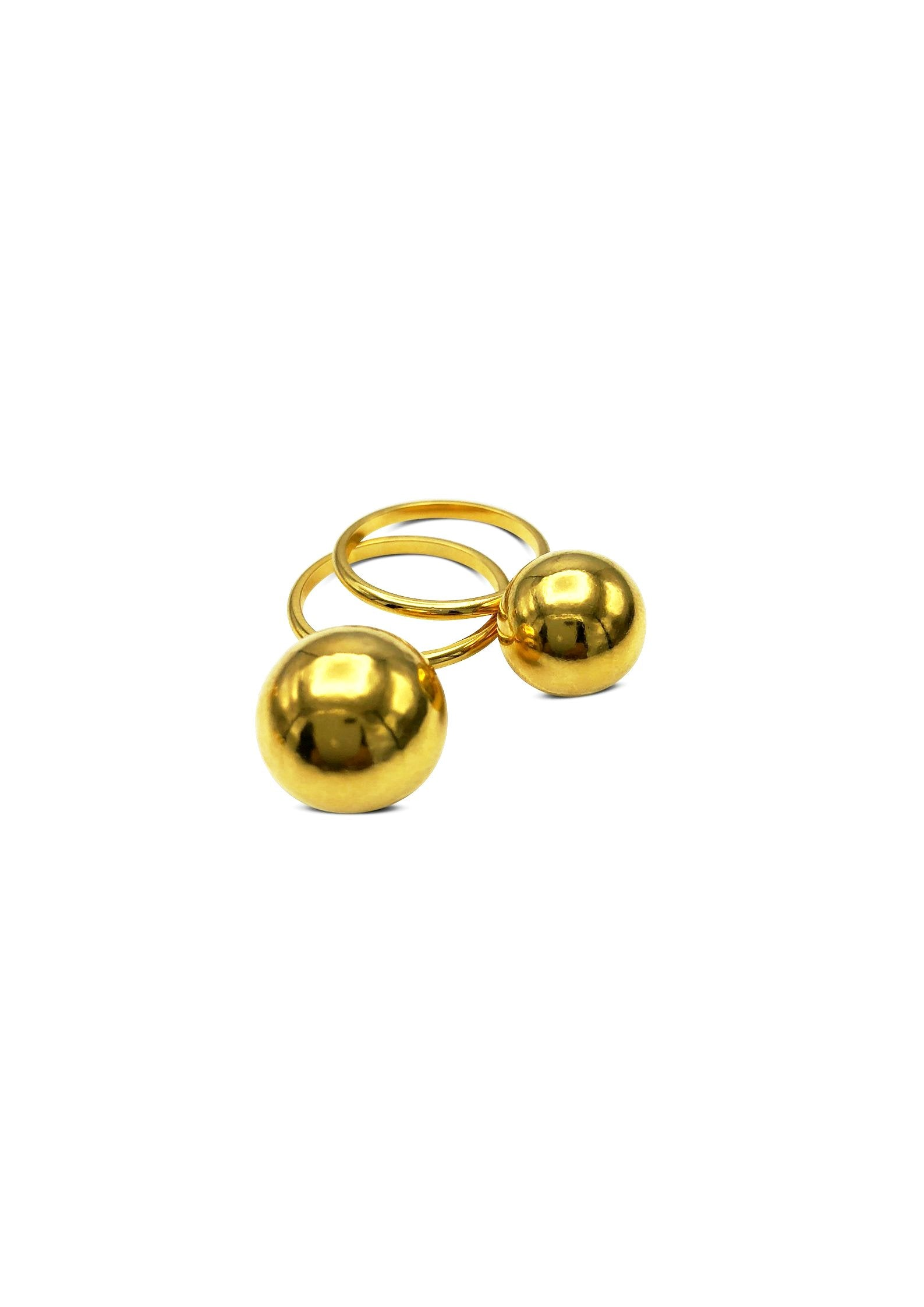 Medium Orbita Double Gold Ring Stack-Womens rings-Jared Jamin Online-6-JARED JAMIN