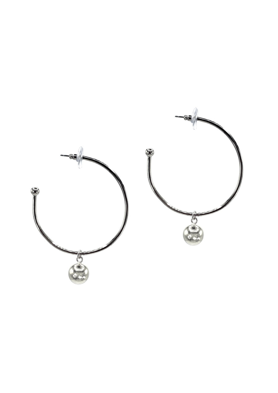 Small Silver Orbita Hoop Earrings-Earrings-Jared Jamin Online-JARED JAMIN