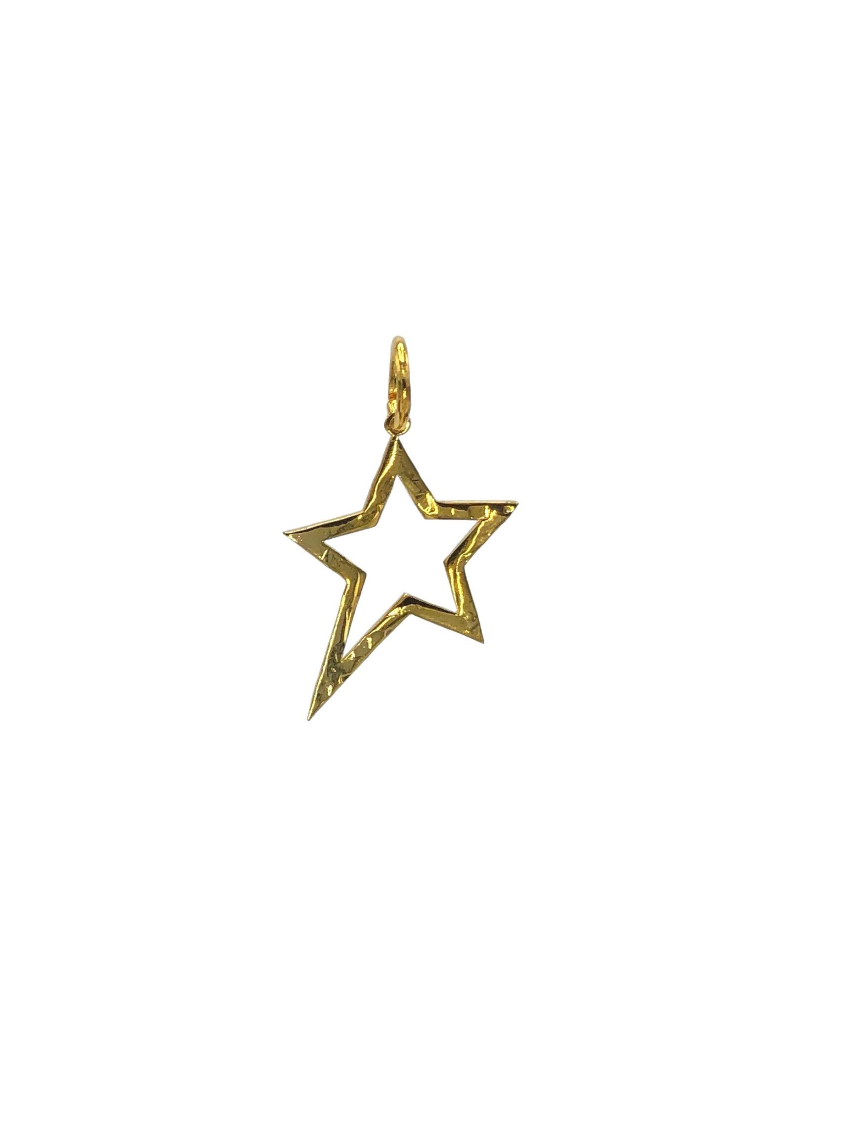 Gold Shooting Star Pendant Charm (sm)-Pendant Charms-JAREDJAMIN Jewelry Online-JAREDJAMIN - Fashion Jewelry & Accessories