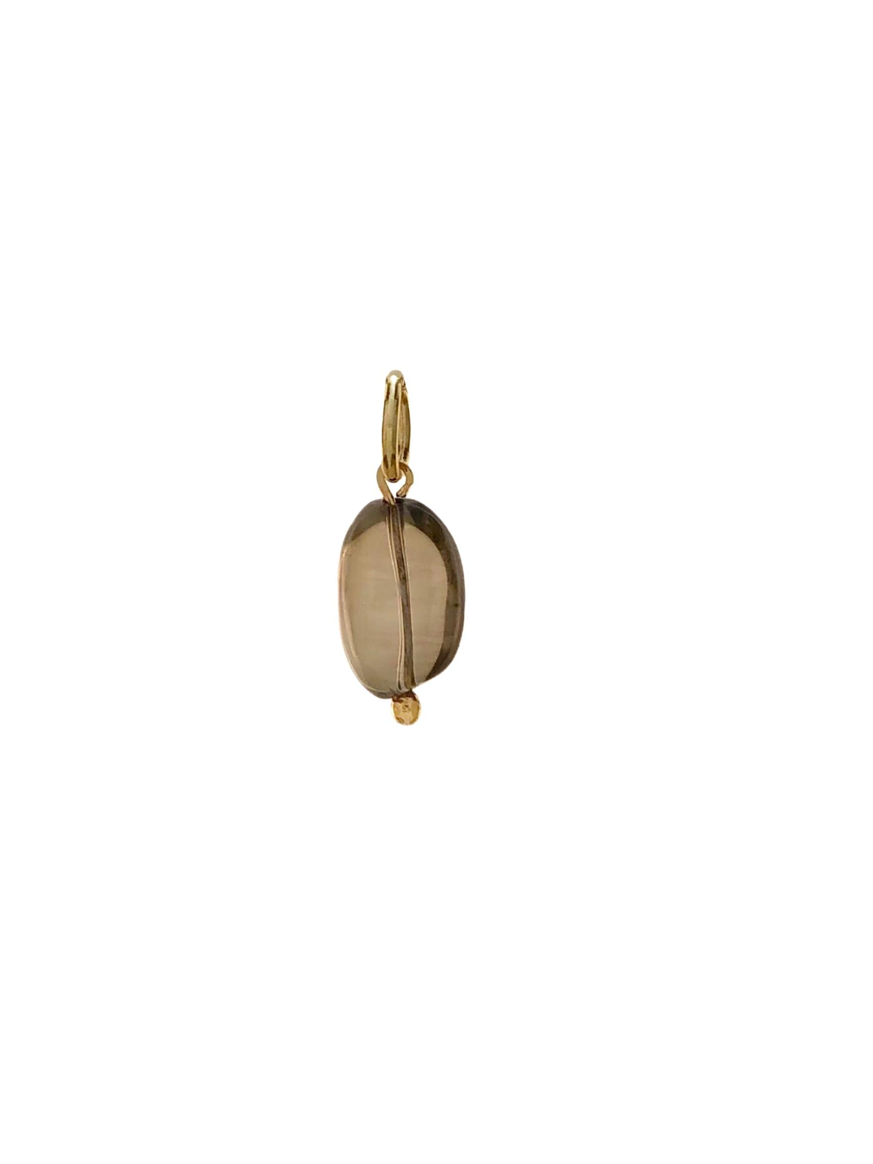 Smoky Quartz Pebble Necklace Pendant Charm-Pendant Charms-JAREDJAMIN Jewelry Online-JAREDJAMIN - Fashion Jewelry & Accessories