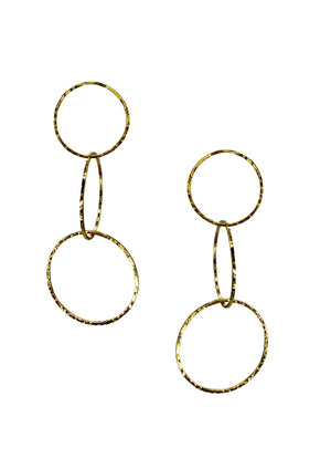 Gold Halo Lindy Links Earrings-Earrings-JAREDJAMIN Jewelry Online-JARED JAMIN