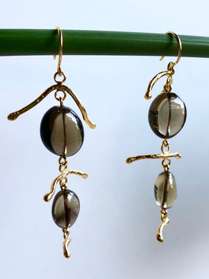 Branch Out Smoky Quartz Earrings-Earrings-Jared Jamin Online-JARED JAMIN