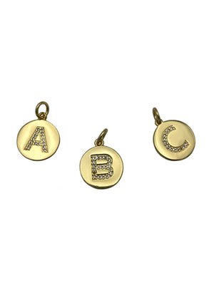 Gold Letter Earring and Chain Pendant Charms-Pendant Charms-Jared Jamin Online-A-JARED JAMIN