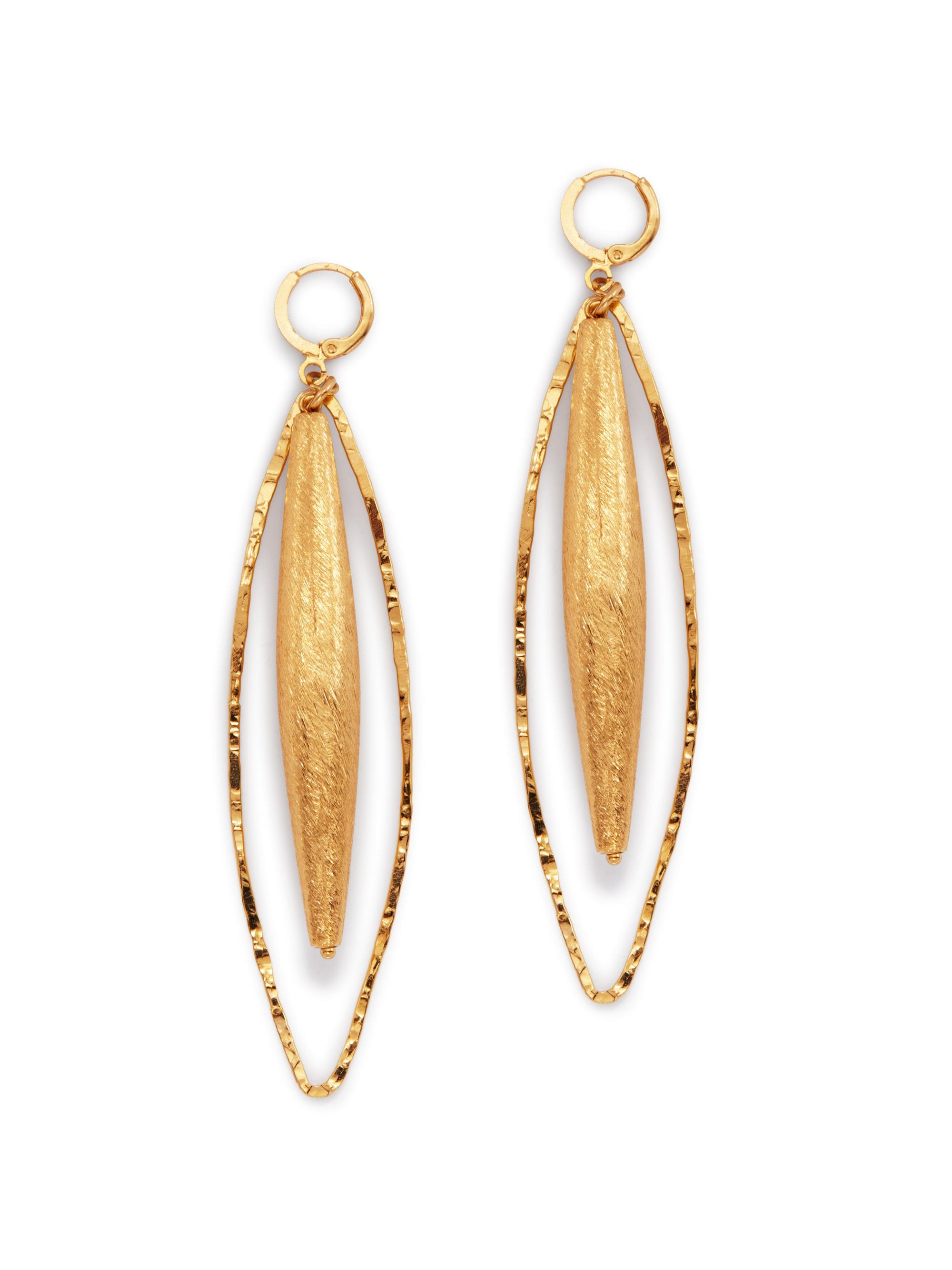 Zeppelin Hailey Gold Leverback Earrings-Earrings-JAREDJAMIN Jewelry Online-JARED JAMIN