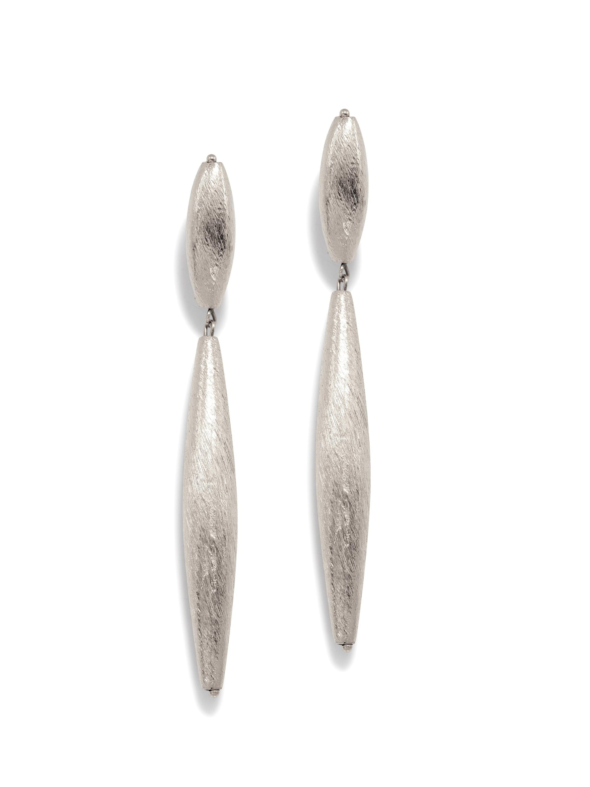 Zeppelin Isla Two Drop Silver Earrings