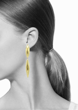 Zeppelin Drop Gold Earrings-Earrings-Jared Jamin Online-JARED JAMIN