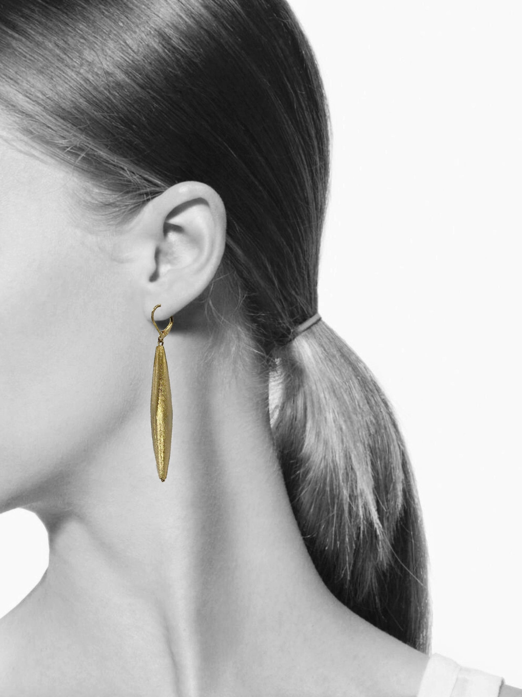 Zeppelin Cora 1 Drop Gold Earrings-Earrings-JAREDJAMIN Jewelry Online-JARED JAMIN