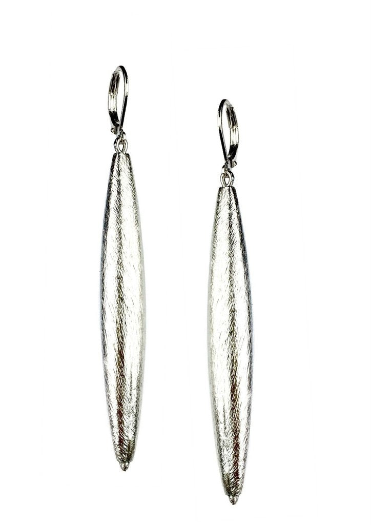 Zeppelin Cora 1 Drop Silver Earrings-Earrings-JAREDJAMIN Jewelry Online-JARED JAMIN