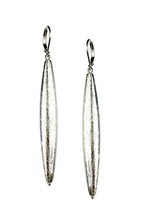 Zeppelin Cora 1 Drop Silver Earrings-Earrings-Jared Jamin Online-JARED JAMIN