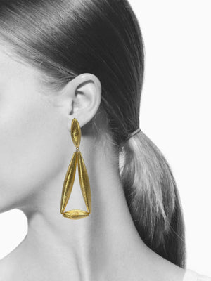 Zeppelin Ivy Gold Clipon Earrings-Earrings-Jared Jamin Online-JARED JAMIN