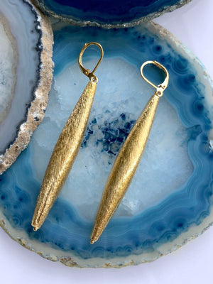 Zeppelin Cora 1 Drop Gold Earrings-Earrings-Jared Jamin Online-JARED JAMIN