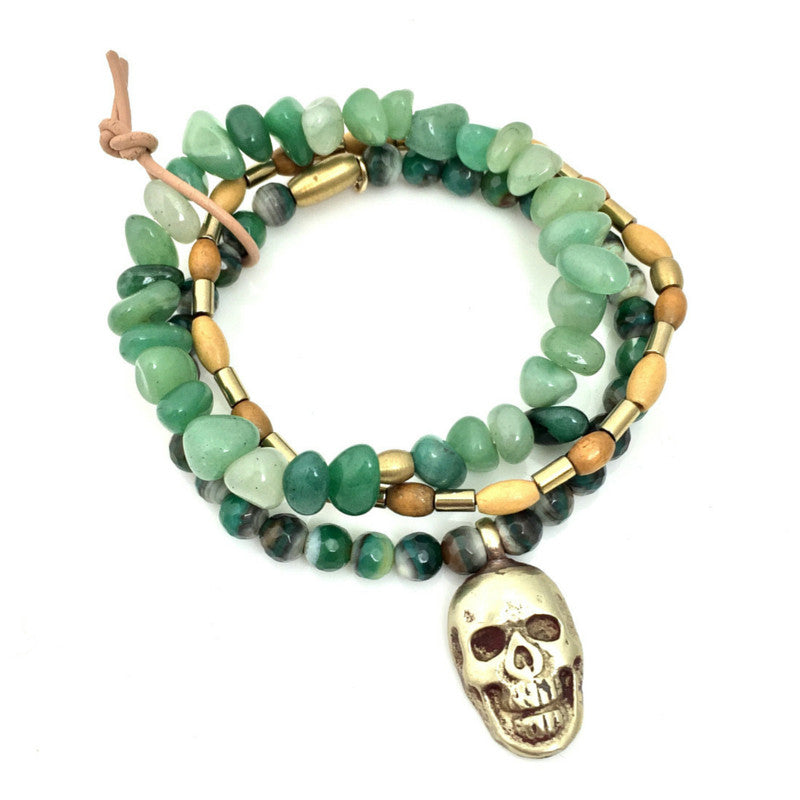 Death In The Face Bracelet Set, Bracelets, JARED JAMIN