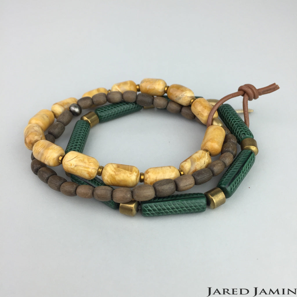Lizard Bead Bracelet Set, Bracelets, JARED JAMIN - Jared Jamin jewelry