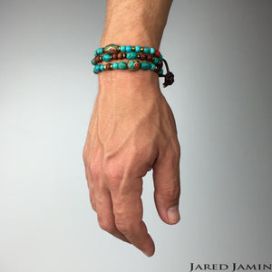South Western Guardian Set-Bracelets-Jared Jamin Online-Turquoise-JARED JAMIN