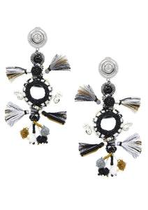 Desert Caravan Clip Earrings