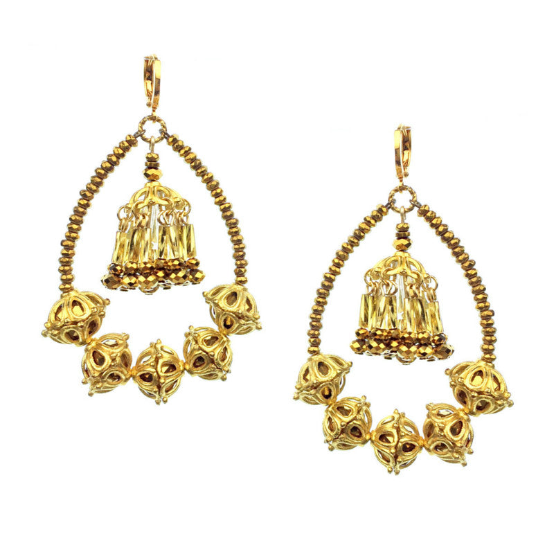 Earrings - Jared Jamin  - Jared Jamin Online - Indian Auntie Mame Earrings -  - 2
