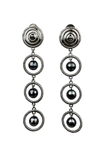 Minerva Black Orrery Clip-On Earrings, Earrings, JARED JAMIN