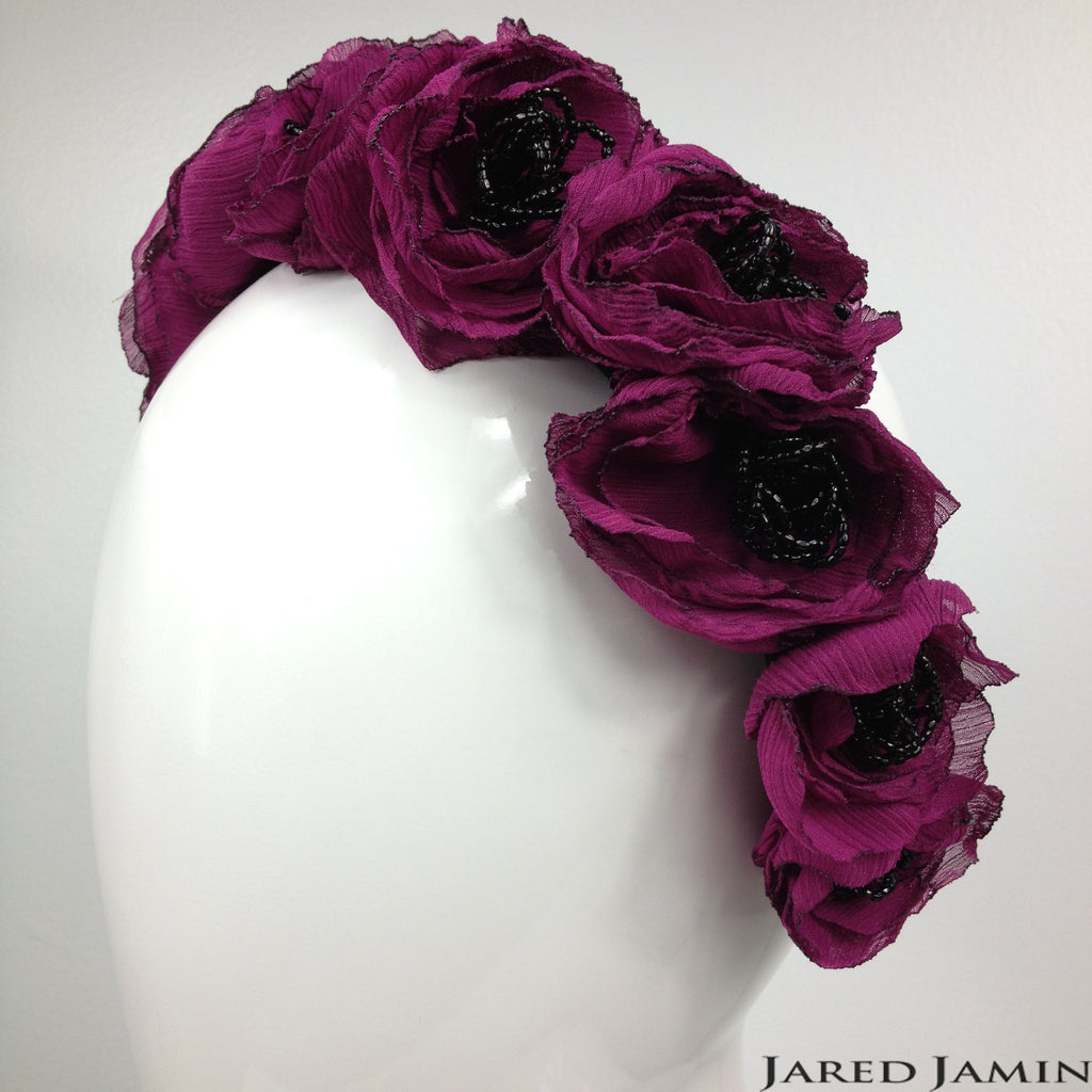Flora Fantasy Fuschia Headband, Headbands, JARED JAMIN