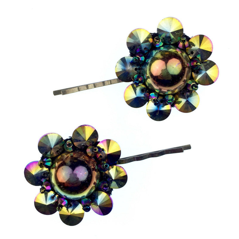 Hair Accessories - Jared Jamin  - Jared Jamin Online - Psychedelic Blooms Hairclips -  - 2