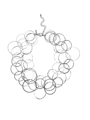 Silver Halo Lindy Links Layered Necklace-Necklaces-Jared Jamin Online-JARED JAMIN