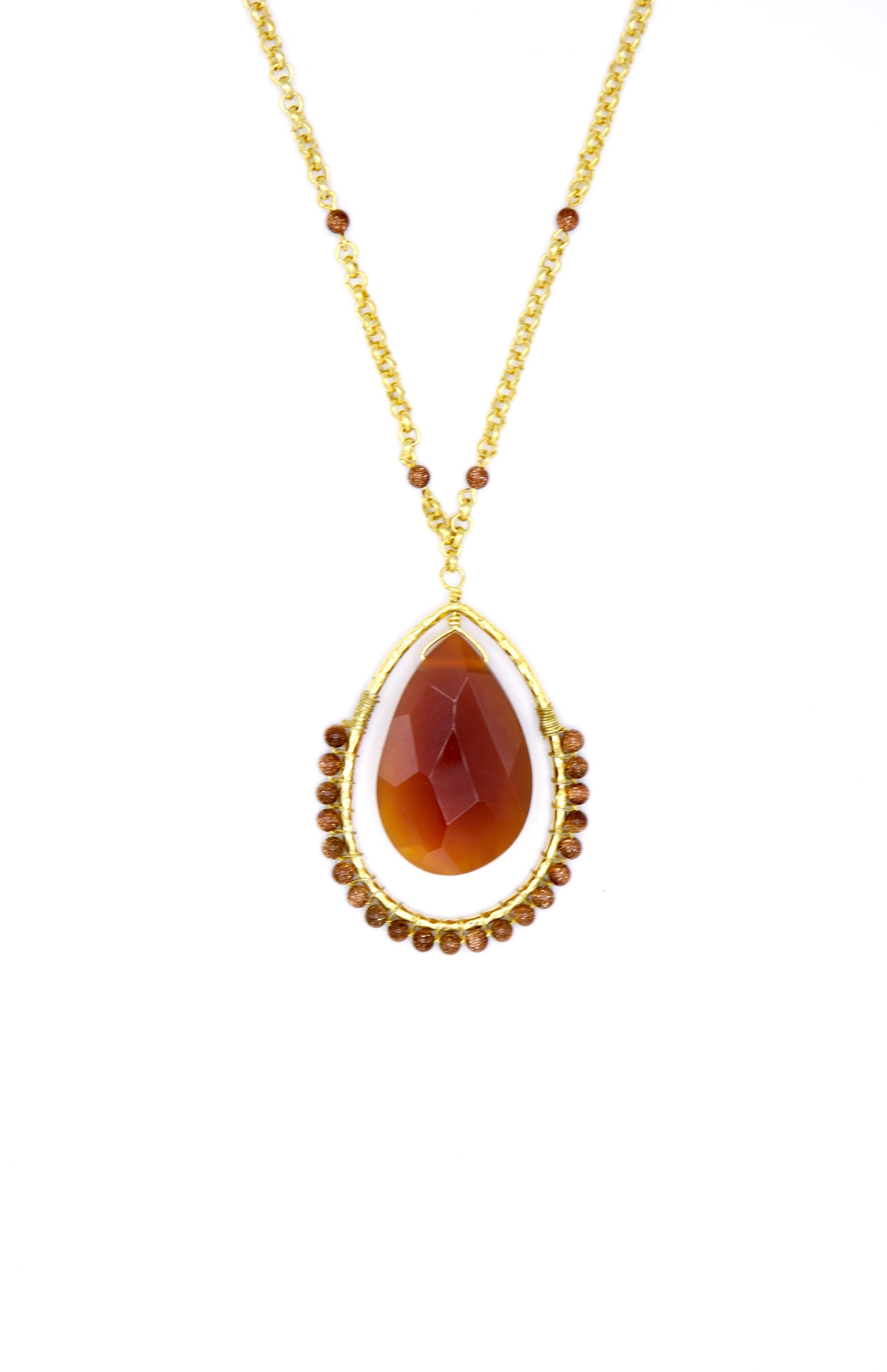 Ptolemaic Pendant Necklace-Necklaces-JAREDJAMIN Jewelry Online-Carnelian-JARED JAMIN
