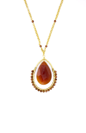 Ptolemaic Pendant Necklace-Necklaces-Jared Jamin Online-Carnelian-JARED JAMIN