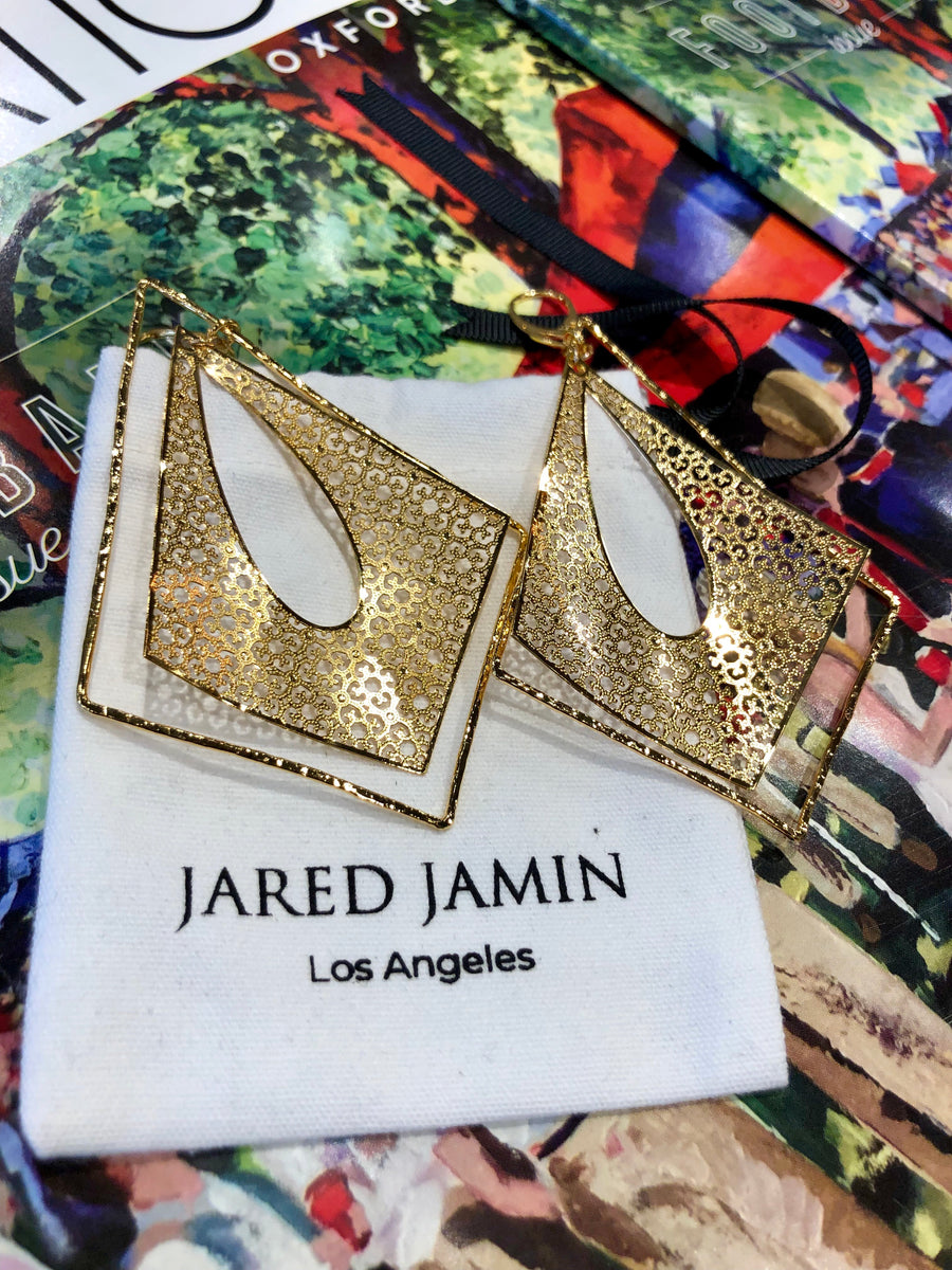 Tudor Temptations Gold Leverback Earrings-Earrings-Jared Jamin Online-JARED JAMIN