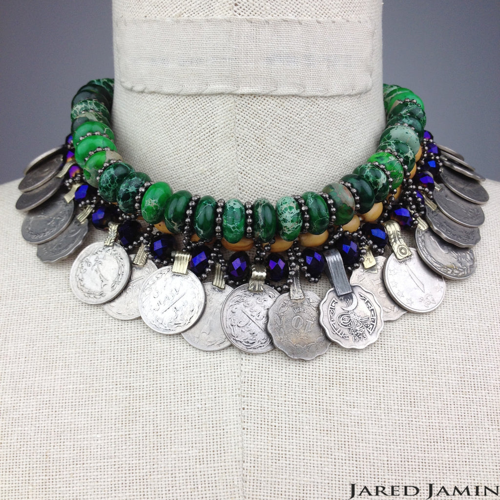 Carnival Upon The Clavicle • Jasper Coin Necklace, Necklaces, JARED JAMIN