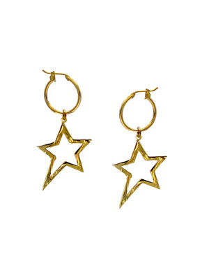 Gold Shooting Star Dust Earring Charms-Womens Charms for Earrings-JAREDJAMIN Jewelry Online-JAREDJAMIN - Fashion Jewelry & Accessories