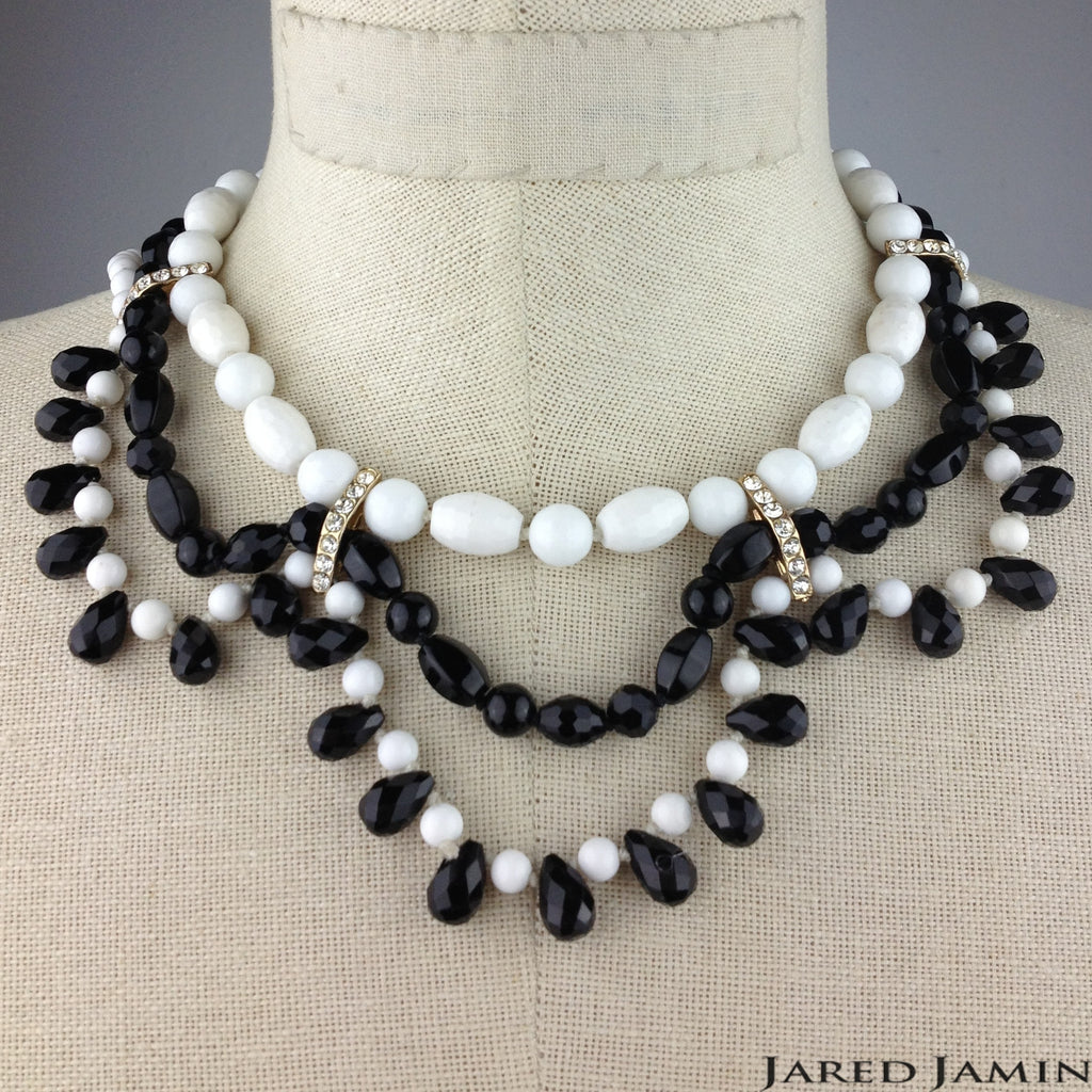 Black and White Bravado Necklace, Necklaces, JARED JAMIN