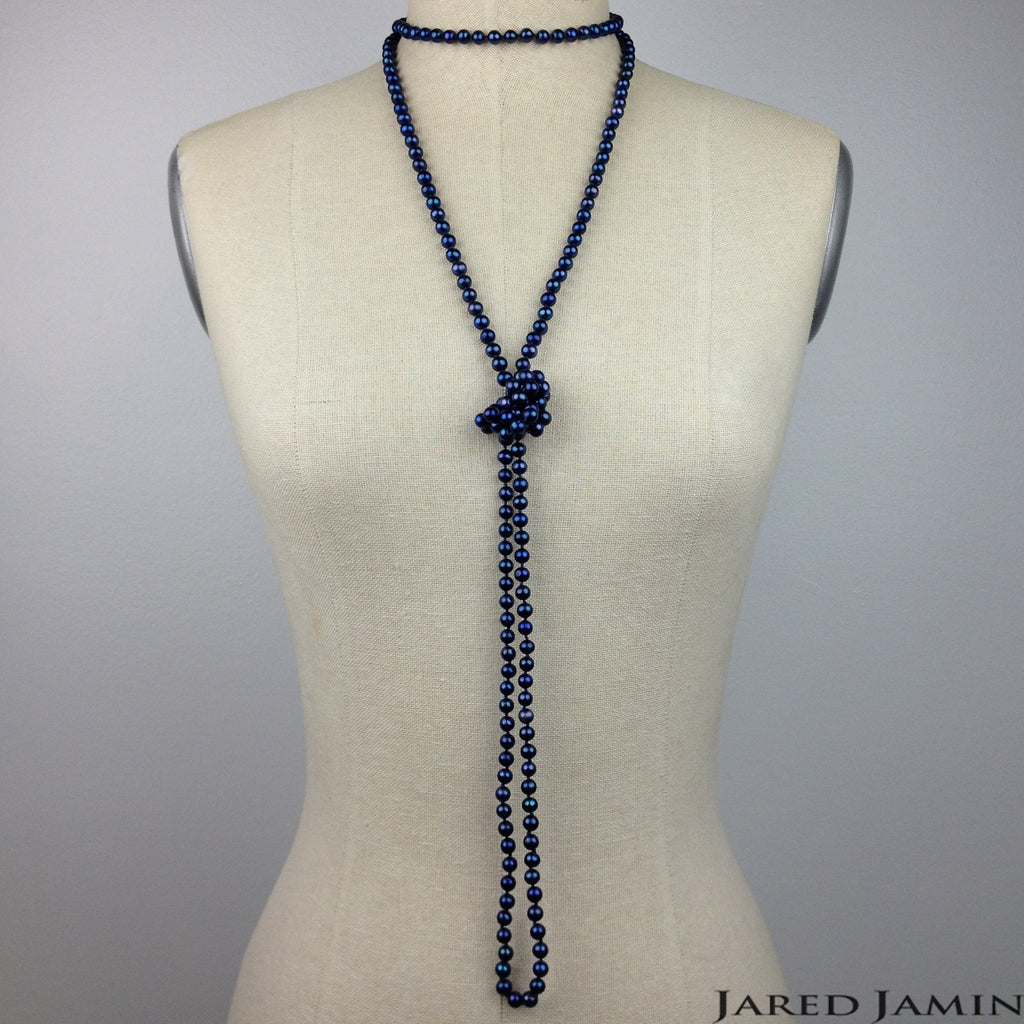 Blue Bounty Pearl Necklace, Necklaces, JARED JAMIN