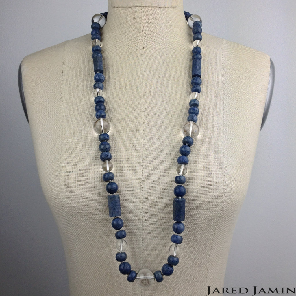 Blue Coral Calypso Necklace, Necklaces, JARED JAMIN