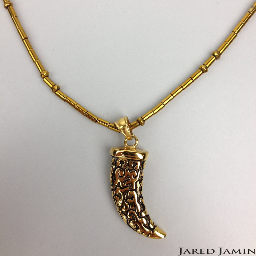 Necklaces - Jared Jamin  - Jared Jamin Online - Golden Horn Pendant Necklace -  - 1