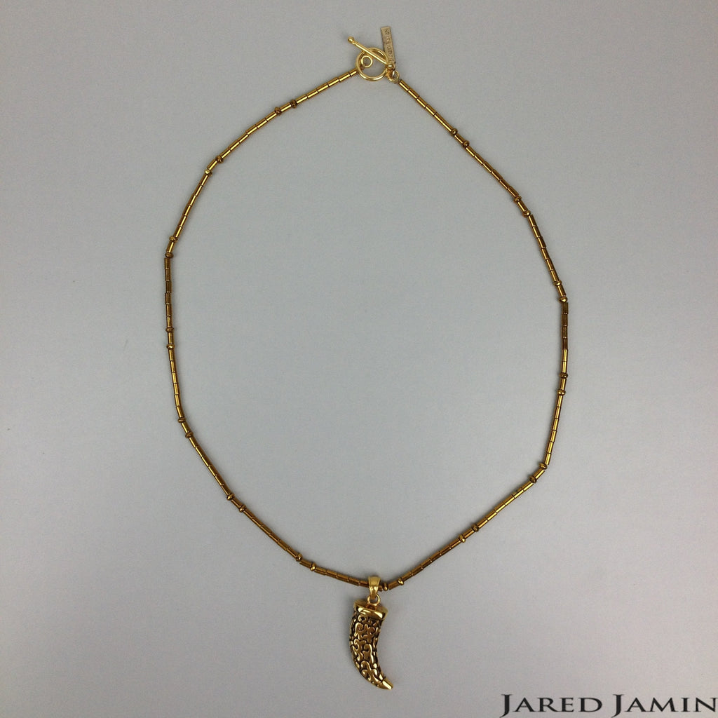 Necklaces - Jared Jamin  - Jared Jamin Online - Golden Horn Pendant Necklace -  - 2