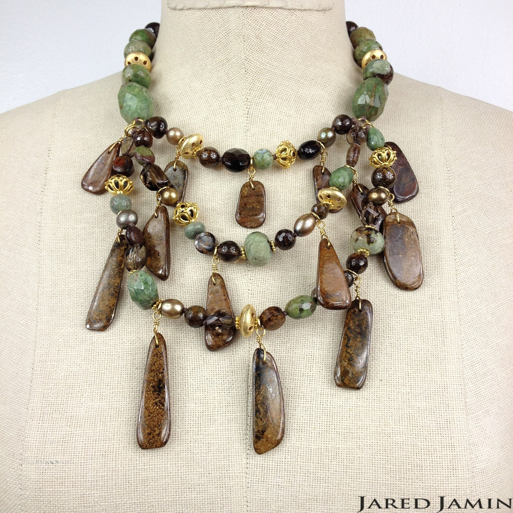 Green Gardens Necklace, Necklaces, JARED JAMIN